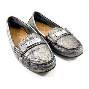 Coach: gunmetal gray 'Frederica' loafers (6)